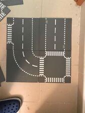 LEGO city Baseplate stradali 7281 + 7280, città strade basi 32x32 4 pz