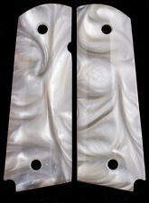 1911 Pearl Grips Rock Island & Clones Full size White Mother of Pearl Best FREE