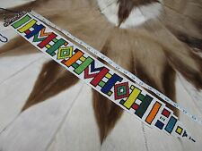 RARE BEAUTIFUL Ndebele Nyoga Beaded Wedding Bridal Veil South Africa #109