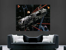 STAR WARS POSTER MILLENNIUM FALCON WALL TV MOVIE ART PICTURE PRINT LARGE  HUGE