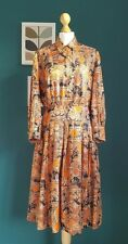 True vintage 1970's orange patterned dress
