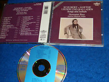 CD Hermann Prey HELMUT DEUTSCH PIANO songs & BALLADS goethe Schubert BALLADEN