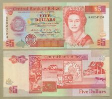 BELIZE - QEII  $5  1990  P53  Uncirculated  ( Banknotes )