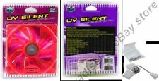 120mm Cooler Master UV Reactive Quiet/Slilent 22dba Fan/Cooler/Blower 12V {RED