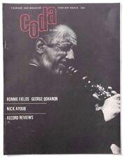 Vintage February / March 1965 CODA (Nick Ayoub) Canadian Jazz MAGAZINE