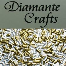 250 x 5mm Gold Rectangle Metal Studs Loose Flat Back Craft Embellishment  Gems