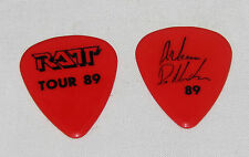 RATT~Warren De Martini~Tour 89 Double-Sided Guitar Pick~Excellent Condition