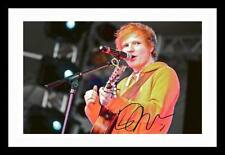 ED SHEERAN AUTOGRAPHED SIGNED & FRAMED PP POSTER PHOTO