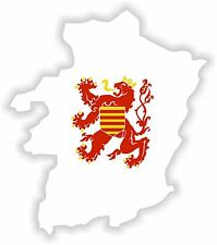 Limburg Map Flag Sticker Bumper Belgium Belgique Motorcycle Bike