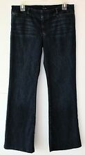Joe's Jeans Trouser Fit 30W Dark Blue Stretch Denim Flared Leg Ultra Low Rise