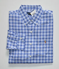 NWT Men's Ralph Lauren Casual Long-Sleeve Shirt, Blue, White, M, Medium