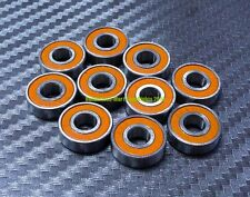 [10 Pcs] 6800-2RS (10x19x5 mm) Rubber Sealed Ball Bearing Bearings 6800RS ORANGE