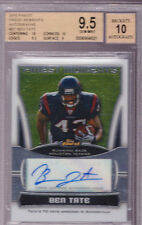 2010 Topps Finest Ben Tate Finest Moments Auto Rc BGS 9.5 with a 10 on the Auto
