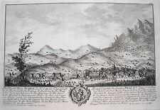 Schwyz, Schwytz, Svitte Schwiz  Schweiz Kupferstich von Herrliberger 1758