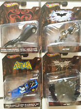 Hot Wheels Set of 4 Batman Vehicles X0553, X4037, X3082, X4035     8+