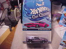 Hot Wheels Cool Classics '84 Ford Mustang SVO on Pink Car Card