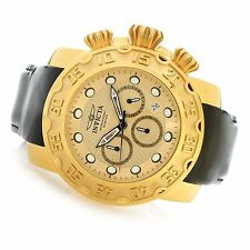 22492 Invicta 52mm Lupah Espadon Quartz Chronograph Patent Leather Strap Watch