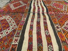 Natural Dyes Antique 5'3''x7' Turkish Cicim Flat Woven Wool  Kilim Turkey