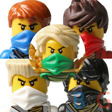 LEGO Ninjago Set/5 Rebooted Zane Cole Lloyd Kai Jay w/ Techno Blades, Weapons