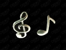 925 Sterling Silver Musical Note Music Stud Earrings Treble Clef Child Women Men