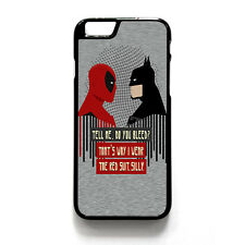 DEADPOOL VS BATMAN iPhone 4/4S 5/5S 5C 6 6S Plus Case Cover Plastic or Rubber