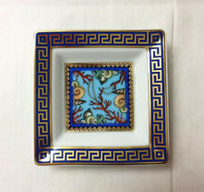 "VERSACE ""LA MER"" TRAY 3 1/4"" SQUARE PORCELAIN / NEW / MADE IN GERMANY ROSENTHAL"