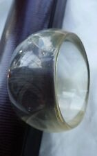 Vintage Clear Transparent Chunky Wide Liquid Lucite Acrylic Bangle Bracelet Cuff