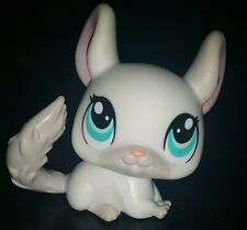 Littlest Pet Shop White Grey Gray Blue Eyes Chinchilla #1401 LPS