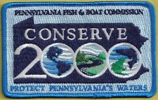 "Pa Pennsylvania Fish & Boat Commission PREMIER ISSUE 2000 NEW 4"" Conserve Patch"