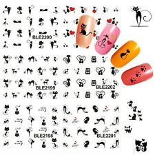 Nail Art Sticker Water Transfer Stickers Black Cat Decals Tips Decoration New