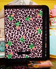 Betsey Johnson RARE Bag IPAD CASE Pink ROSEBUD Floral LEOPARD Cover TABLET