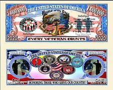 Every Veteran Counts Million Dollar Collectible Novelty Note