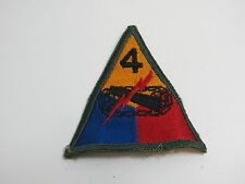 WWII ERA US ARMY TANK PATCH / 4TH TANK BATTALION