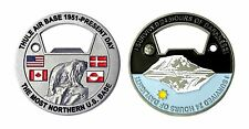 "THULE AIR FORCE BASE MOST NORTHERN BASE POLAR BEAR  1.75"" CHALLENGE COIN"