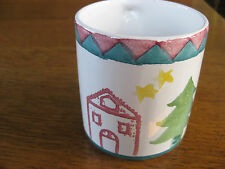 Starbucks Coffee Mug Holiday Xmas Tree House Stars child drawing Rosanna Italy
