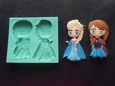 Silicone Mould ELSA and ANNA Sugarcraft Cake Decorating Fondant / fimo mold
