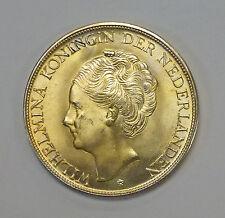{BJSTAMPS} 1944 Netherlands  2 1/2 Gulden Curacao, nice details gold toning .720