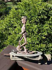 Antique Aluminum or Zinc WEATHERVANE & WHIRLIGIG Man Riding UNICYCLE Automotron