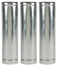 """(3) sections Selkirk 244024 4VP-24 4"""" x 24"""" Type L Pellet Stove Chimney Pipe"""