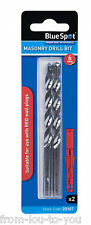 Pack of 2 masonry drill bit 6mm - suitable for red wall plugs