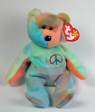 Ty Beanie Baby Peace Bear Retired Free Shipping