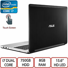 "Asus TP550LA 15.6"" HD LED Touch Intel Dual Core i7 750GB HDD 8GB RAM Windows 10"
