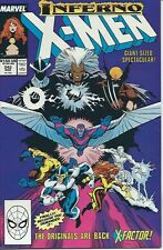 X-MEN #242 (Marvel 1989) INFERNO! Double-sized High grade NM condition
