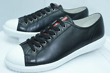 Prada Men's Black Shoes Calzature Uomo Lace Up Sneakers Size 10 Tennis Shoes NIB