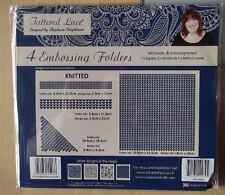 Tattered Lace Knitted 4 Embossing Folder Set