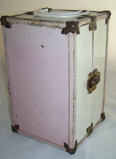 Vintage Vogue Ginny Doll Fitted Wardrobe Trunk Carrying Case Pink Metal Locker
