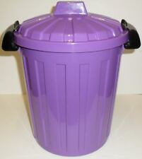 STORAGE-WASTE-RECYCLING-KITCHEN-BEDROOM- BIN 7 LITRE WITH CLIP ON LID PURPLE