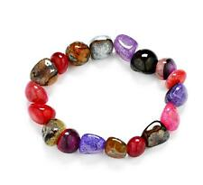 Fashionable colorful chakra natural energy stones Pray lucky bracelet
