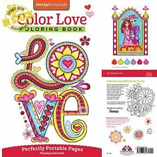 Colors the Love Wherever You Go Adult Coloring Books Heart Loves Patterns Design