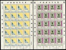 FAROE 1979 EUROPA SHEETLETS OF 20 SET MNH